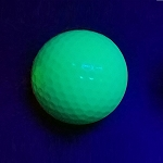 Black Light Green Ball