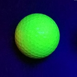 Black Light Yellow Ball