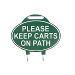 Green Line™ Oval Fairway Sign Single
