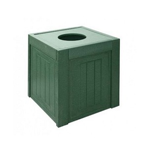 10-Gallon (38 L) Recycled Square Trash Container